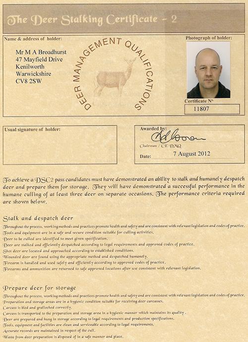 Deer stalking certificate level 2 courses of azithromycin